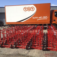 Newly manufactured trolleys being delivered