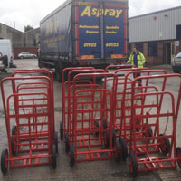 Manufactured trolleys being delivered