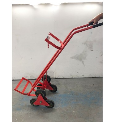 SINGLE WHEEL CYLINDER STAIR CLIMBING TROLLEY - 1X OXYGEN OR ACETYLENE