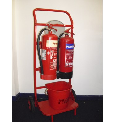 REVERSED FIRE TROLLEY 2 X EXTINGUISHERS