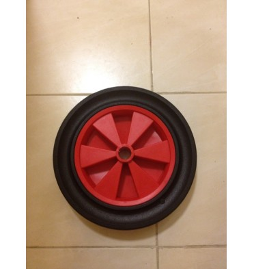 30CM SOLID RUBBER�WHEEL PLASTIC CENTRE 26MM BORE