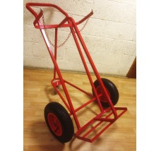 TWIN PLUS SUPERIOR GAS BOTTLE TROLLEY 3 WHEELS - 2X OXYGEN OR ACETYLENE
