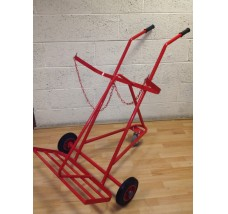 TWIN 3 WHEEL GAS BOTTLE TROLLEY - 2X OXYGEN OR PROPANE