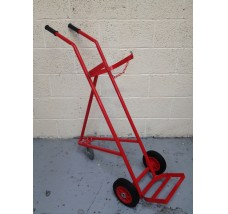 SINGLE 3 WHEEL GAS BOTTLE TROLLEY - 1X OXYGEN OR ACETYLENE