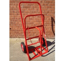 TWIN SUPERIOR CYLINDER TROLLEY - 2X OXYGEN OR ACETYLENE