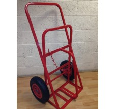 TWIN PLUS SUPERIOR CYLINDER TROLLEY - 2X OXYGEN OR ACETYLENE