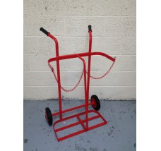 TWIN GAS TROLLEY - 2X OXYGEN OR ACETYLENE