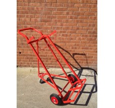 TWIN SUPERIOR CYLINDER TROLLEY WITH 3 WHEELS - 2X OXYGEN OR ACETYLENE