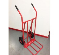 SACK TRUCK WITH PNEUMATIC WHEELS AND TUBULAR TOEBAR 150KG LOAD
