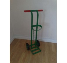 SUPERIOR GAS BOTTLE TROLLEY - 1X HELIUM (GREEN)