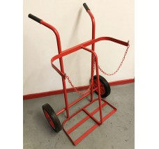 TWIN CYLINDER TROLLEY - 2X OXYGEN OR ACETYLENE