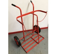 TWIN CYLINDER TROLLEY - 2X OXYGEN OR PROPANE