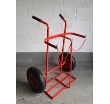 TWIN PLUS GAS BOTTLE TROLLEY - 2X OXYGEN OR ACETYLENE
