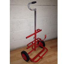 SUPERIOR PORTABLE GAS BOTTLE TROLLEY - 2X CYLINDERS