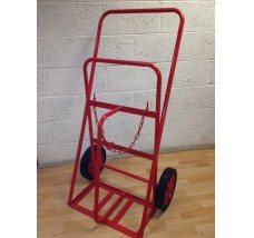 TWIN HEAVY DUTY GAS BOTTLE TROLLEY - 2X OXYGEN OR ACETYLENE