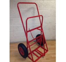 TWIN PLUS HEAVY DUTY CYLINDER TROLLEY - 2X ACETYLENE OR OXYGEN