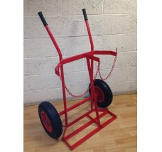 TWIN PLUS HEAVY DUTY GAS BOTTLE TROLLEY - 2X OXYGEN OR PROPANE