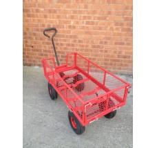 FLATBED TROLLEY WITH COLLAPSIBLE SIDES - 450kg