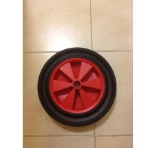 30CM SOLID RUBBER WHEEL PLASTIC CENTRE 26MM BORE