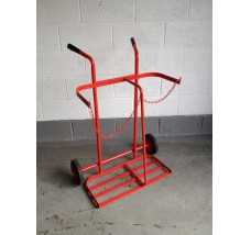 TWIN GAS BOTTLE TROLLEY - 2X OXYGEN OR PROPANE