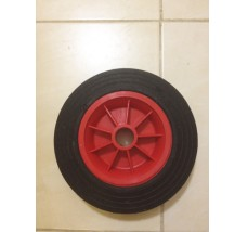 20CM SOLID RUBBER WHEEL PLASTIC CENTRE 26MM BORE